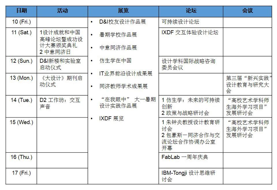 2014同济设计周(上)论坛+会议讯息